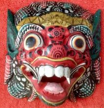 Rare & Colorful Hand-carved Beast Mask