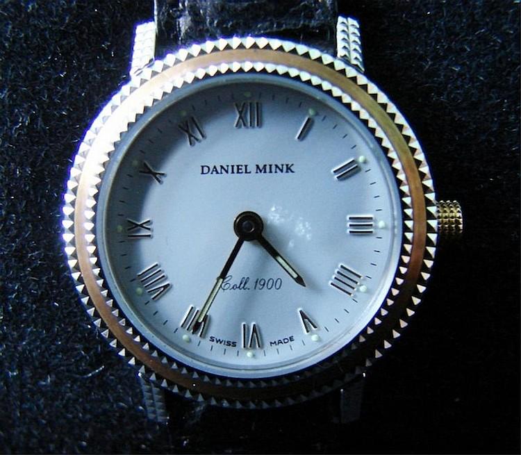 Daniel Mink Watch w/ Black Leather Band