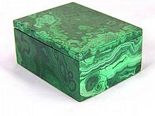 Hand Carved Zaire Africa Malachite Jewelry Box