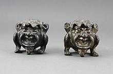 Pair of Continental Inkwell late 19th Century