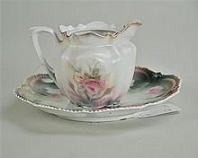 R.S. Prussia Teapot and Plate