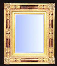 Art Deco styled mirror with gold gilt swept frame