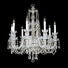 8-light Crystal, Silvertone Swarovski Chandelier.