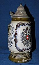 Authentic Hand Painted King Beer Stein Pewter Lid