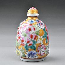 Antique Glazed Porcelain Snuff Bottle.