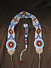 Indian Beaded Belt and Beaded Awl Bag, circa 1930