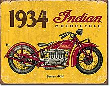 1934 Indian Motorcycle Reproduction Sign