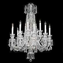15-light Crystal, Silvertone Swarovski Chandelier.