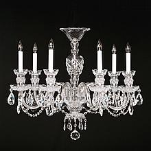 7-light Crystal, Silvertone Swarovski Chandelier.