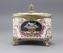 Bronze-set Porcelain Jewelry Box