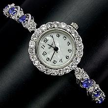Beautiful Kyanite & White Topaz Watch