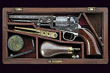 Cased Colt Model 1849 Pocket Revolver.