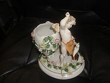 Antique Dresden Sitzendorf Porcelain Figurine.