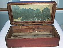 Antique Wood Box Jewelry, Document,Money, Lap Desk