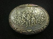 Continental White Metal Snuff Box