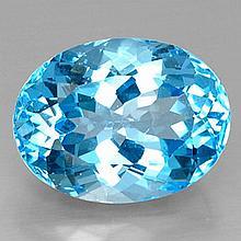 21.7ct Swiss Blue Topaz~ size 19.02 x 14.45 x 10.6