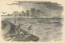 Cevasse on the Lower Mississippi Harpers 1862