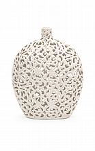 Lacey Openwork Ceramic Vase.