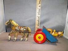 Toy-Marx Horse/Wagon