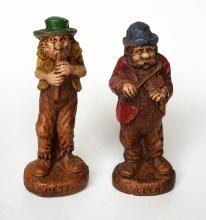 Vintage figurines statuette of CLIM and PETE musicians