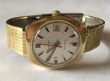 Vintage gold filled HAMILTON unisex watch with gold filled bracelet