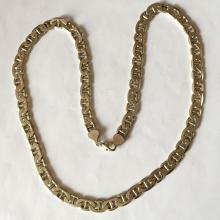 Vintage Mariner link chain with lobster clasp. Length 22