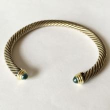 David Yurman Cable Classic Bracelet with Topaz and Gold 5 mm