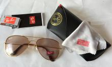 Ray-Ban RB3026 Sunglasses Aviator 60-14-135 come with  original case, cloth, and authenticity papers