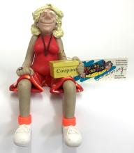Born to Shop Shelf Sitter with coupon box resin plastic figurine from