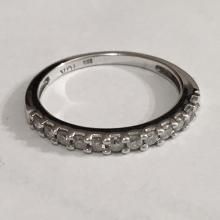 10kt white gold diamond band style ring size 7