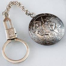 Sterling silver 925 Key chain with ring oxidized for Antique look Medal MEXICO