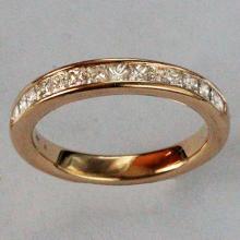 14k yellow gold 1.00 ct genuine princess cut diamond eternity ring band sz 7