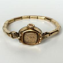 Vintage gold plated ladies ELGIN watch with stretchable bracelet