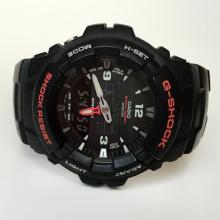 Black rubber uni sex G-SHOCK CASIO G-100 watch with rubber band and black dial