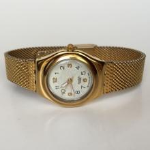 Ladies gold plated SWATCH SWISS with original mesh bracelet