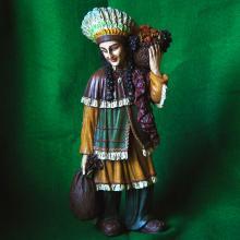 Native American Female Figurine with basket