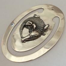 Sterling silver crocodile aligator money clip