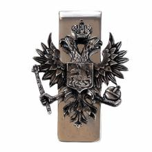 Sterling Silver 925 Russian coat of arms Money Clip oxidized