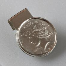 1923 PEACE LIBERTY SILVER ONE DOLLAR COIN MONEY CLIP MINT
