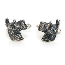 Sterling Silver 925 dog schnauzer scottie terrier cufflinks