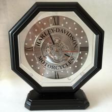 Harley Davidson Motorcycles Bulova Desk Mantle Sceleton Clock