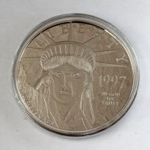 Washington Mint - 1997 Platinum Layered .999 Fine Silver 4oz Coin SEALED