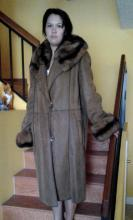 Fendi Authentic Shearling coat Brown color with Sable fur collar & cuff