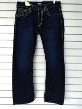 True Religion Ricky Relaxed Straight Mens Jeans. Size 33
