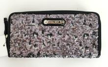 Small evening bag wiTh zips and credit card holder inside, signed NINE WEST