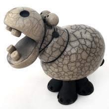 Porcelain figurine statue of Funny Hippopotamus