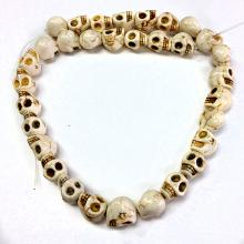 White colored skull shaped beaded necklace