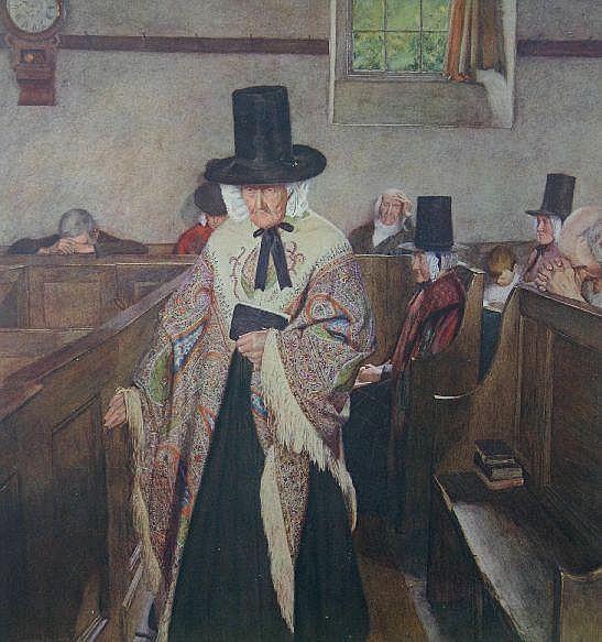 SYDNEY CURNOW VOSPER coloured print; 'Salem', 22 x