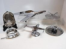 Twelve Mid-Century Chrome Pieces