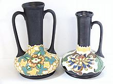 Czech Art Pottery Vases with Handles